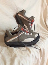pair of gray-and-black Nike sneakers Waxhaw, 28173