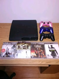 PS3 3controllers 4games and cords Edmonton, T5K
