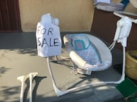 baby's white and gray cradle and swing Los Angeles, 90002