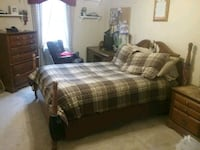 Double bed ,,,, dresser,,,, night stand,,,, bookca Fallston, 21047