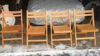 Four  chairs in very good condition