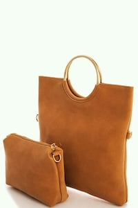 brown leather tote bag Montreal, H3G