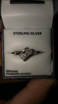 Genuine Diamond Accent Sterling Silver Ring