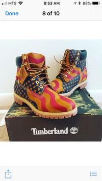 Supreme timberland boots. Brand new. Size 9.5. Purchased directly from supreme New York 1965 km