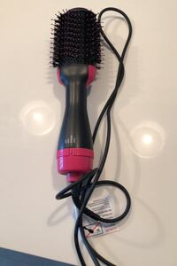 Hair dryer plus roll brush in one