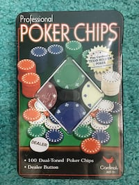 Poker Chips, 100 Pieces, New Sealed