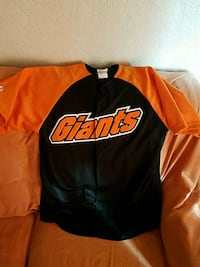 black and orange San Francisco Giants jersey shirt