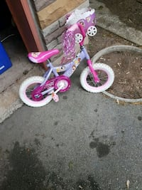 toddler's pink and white bicycle  Oakville, L6K 2A1