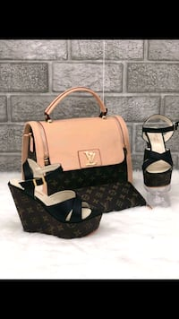 Tote bag in pelle Louis Vuitton marrone e nera Vicenza, 36100