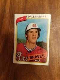 Braves Dale Morphy trading card
