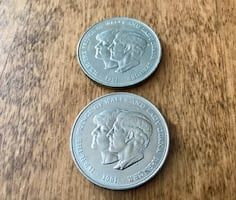 2 Large Commemorative Coins. 1981 Lady Diana & Prince Charles.