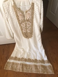Indian white and gold embroidery Kurta