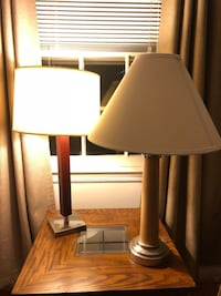Two lamps for sale. Buy one for $25, get one for free! Or just make an offer   Falls Church, 22042