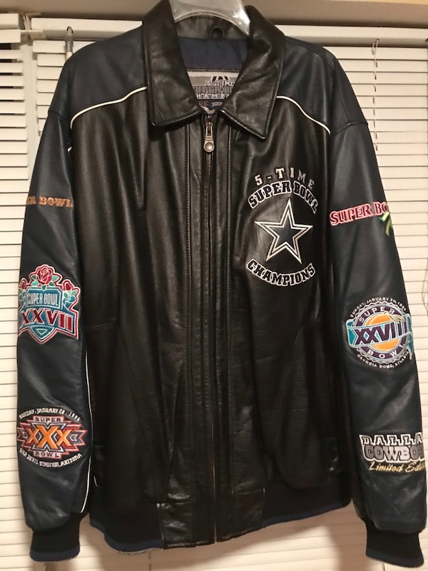 "new concept 94659 d65d5 ONLY FOR ""DIEHARD"" COWBOYS FAN""!! To My Cowboys Facebook Friends: ""Five  times Super Bowl Champions"" Cowboys Leather Jacket My beautiful Cowboys  Jacket ..."
