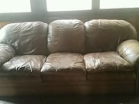 brown leather 3-seat sofa Visalia, 93291