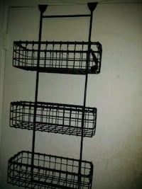 black over-the-door shoe rack