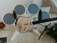 Wii guitar and drum