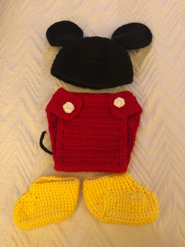 Used Baby Mickey Mouse Crochet Outfit For Sale In Palo Alto Letgo