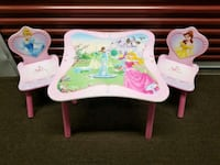 two white-and-pink wooden armchairs Franklin Park, 60131