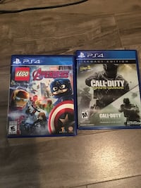 two Sony PS4 game cases Edmonton, T5L 0N1