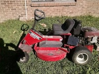 red and black Snapper ride-on mower