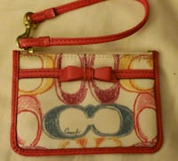 COACH SCRIBBLE MONOGRAM KEYCHAIN CARD COIN PURSE Pearl City, 96782