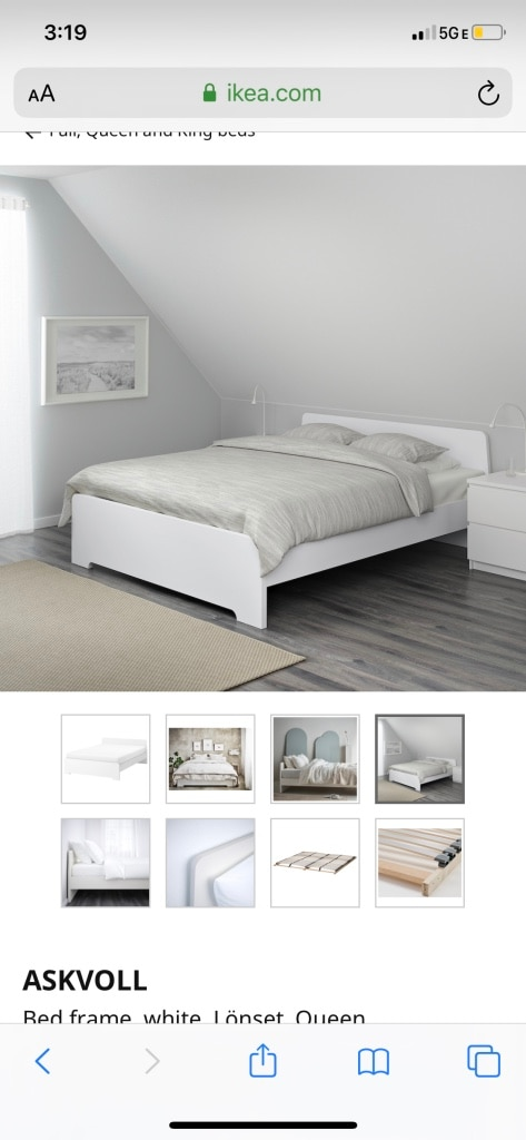 Photo Ikea queen bed frame