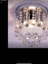 This modern mini chandelier will make a great statement in any room