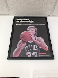 Autographed Larry Bird poster framed New Orleans, 70128