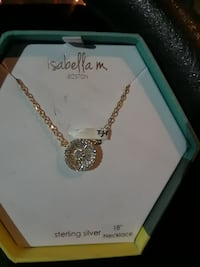 Beautiful 14K  over 925 sterling silver necklace