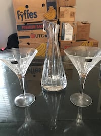 Royal Doulton crystal martini set