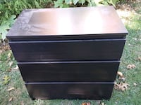black wooden 3-drawer chest Burke, 22015