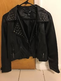 New woman leather jacket (never worn) Springfield, 22150