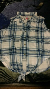 Brand new blue and White plaid summer shirt Mississauga, L4T 3T7