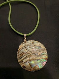 New Abalone Shell pendent on Leather cord Burtonsville