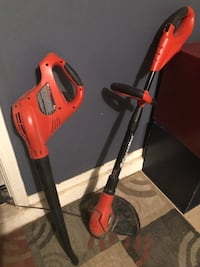 Red and black black & decker hedge trimmer  and Blower combo set San Tan Valley, 85143