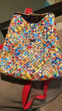 Cute back pack for little girls - recycled plastic