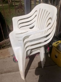 white and gray plastic chairs Fresno, 93705