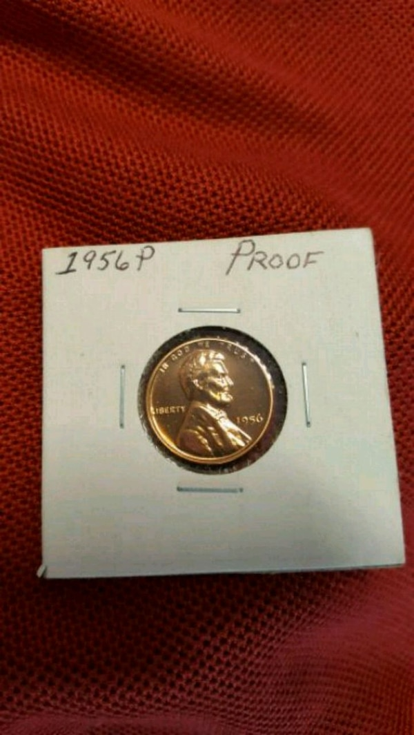 1956-P U S  Lincoln Wheat Penny Proof Coin
