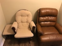 two brown leather sofa chairs Oak Grove, 42262