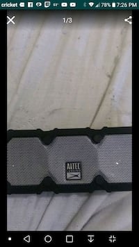 black and white Altec Lansing portable speaker Cicero, 60804