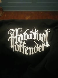 black and white Habitual Offender textile