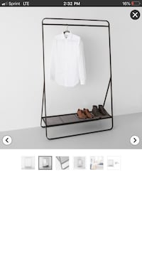 Black Metal Clothing Rack with Shelf Ventura