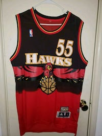red and black Cleveland Cavaliers Lebron James basketball jersey Stratford, 06614
