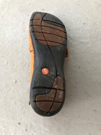 Clark's- brown leather flat shoes, size 10 3744 km