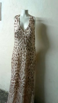 women's brown and black leopard print sleeveless dress Commerce, 90040