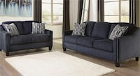 Brand new blue sofa and love seat with pillows Temple Hills
