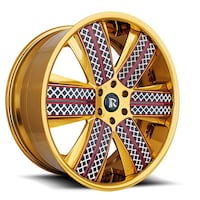 "24"" Rucci Forged CHAIN6 Wheel & Tire Package  Madison Heights"