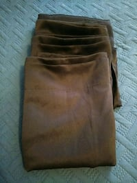 6 brown curtain panels Princeton, 75407
