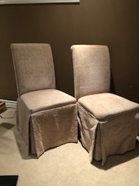 Two beige fabric chairs $50 Kitchener, N2P 2V2